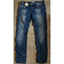 Jeans uomo Invictus stropicciati ed elasticizzati con rotture