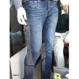 Jeans uomo Gianni Lupo con borchia posteriore e sbiaditure