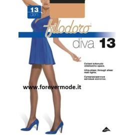 3 Collant donna Filodoro Diva 13 denari velatissimi opaco tutto nudo