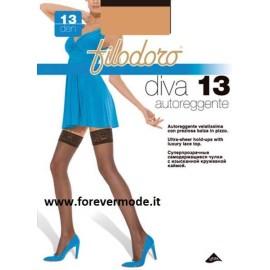 1 Paio di Autoreggente da donna Filodoro Diva 13 tuttonudo balza in pizzo