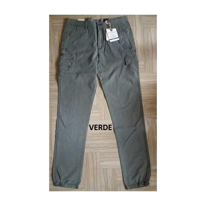 Pantalone uomo Automatic in cotone con 6 tasche a bottone clip