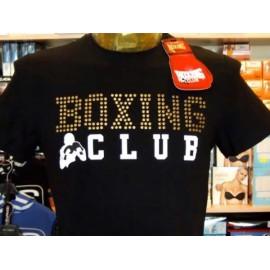 T-shirt uomo Boxing manica corta a girocollo con stampa logo e borchie frontali