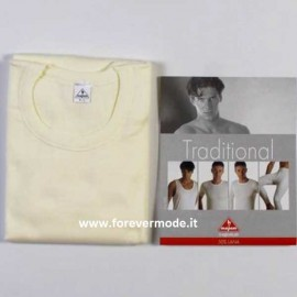 T-shirt uomo Mapom manica lunga a girocollo in caldo misto lana