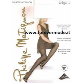 Collant donna Philippe Matignon Elègant fantasia velato a righe