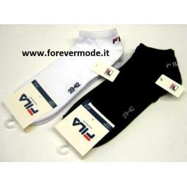 3 Calze pedulini uomo Fila in cotone elasticizzato con logo