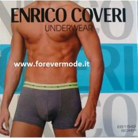 3 Boxer uomo Enrico Coveri in cotone con elastico esterno logato