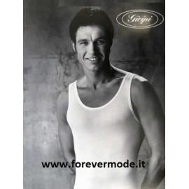 Canottiera uomo Gicipi a spalla larga in morbido cotone pettinato
