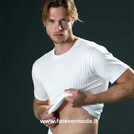 T-shirt uomo Gicipi manica corta a girocollo in leggero filo scozia scarto ago