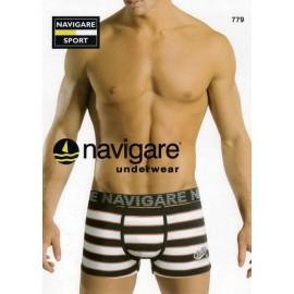 3 Boxer uomo Navigare in cotone elasticizzato con motivo a righe