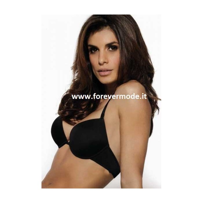 Reggiseno donna Lormar push up in microfibra con coppa gel