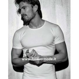 T-shirt uomo Coveri manica corta a girocollo in fine cotone elasticizzato
