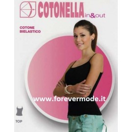 Canottiera donna Cotonella a spalla stretta in cotone bi-elastico