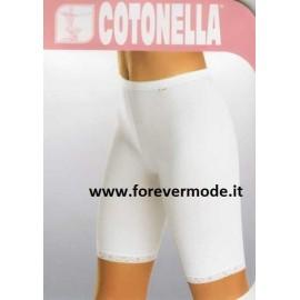 Slip culotte donna Cotonella Long in cotone, giro gamba in pizzo