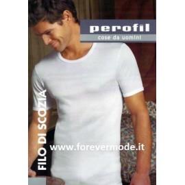 T-shirt uomo Perofil alta qualità girocollo in filo di scozia