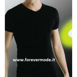 T-shirt uomo Ever scollo a V in jersey di cotone aderente