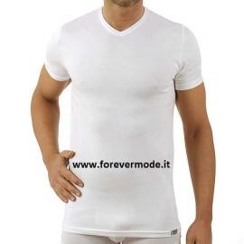 3 T-shirt uomo Axiom manica corta con scollo V in cotone elasticizzato con logo