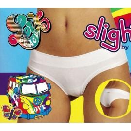 3 Slip short donna Emy, cotone vita bassa con elastico tubolare