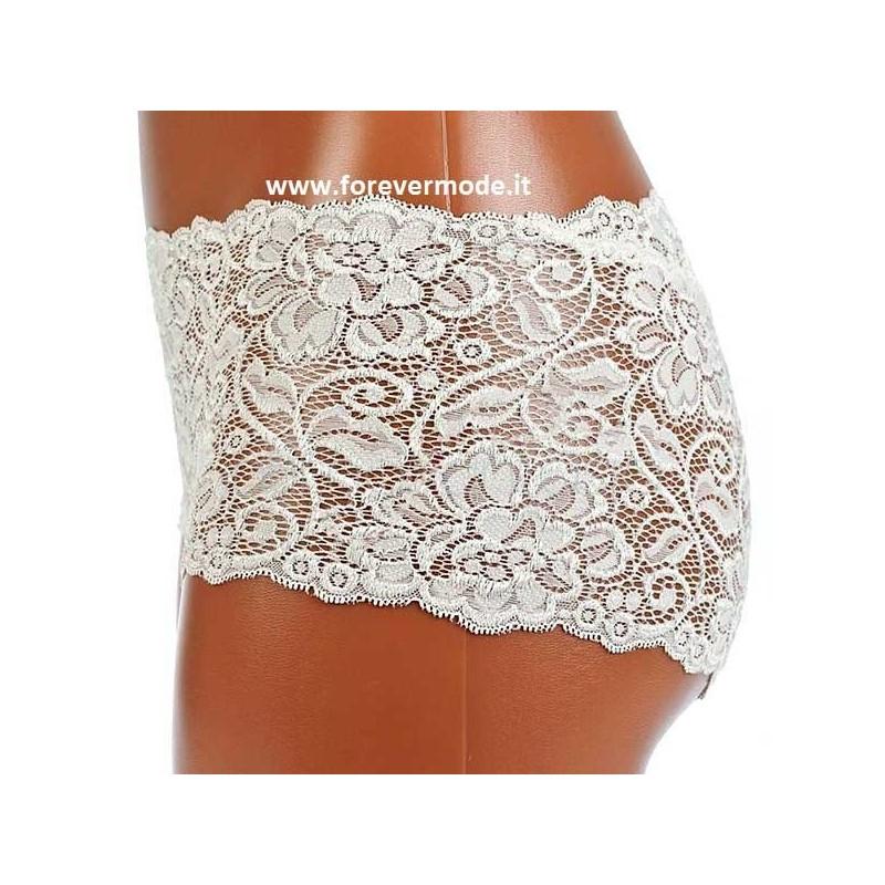 Slip culotte donna Tramonte in morbido e leggero pizzo elasticizzato art 725