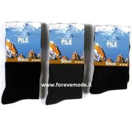 6 Calze uomo Prisco lunghe in leggero e caldo pile termico