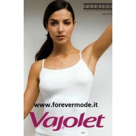 Canottiera donna Vajolet in cotone elasticizzato esternabile