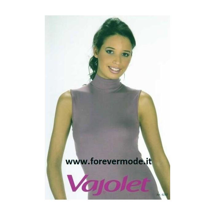 Maglia smanicata donna Vajolet a lupetto in cotone elasticizzato