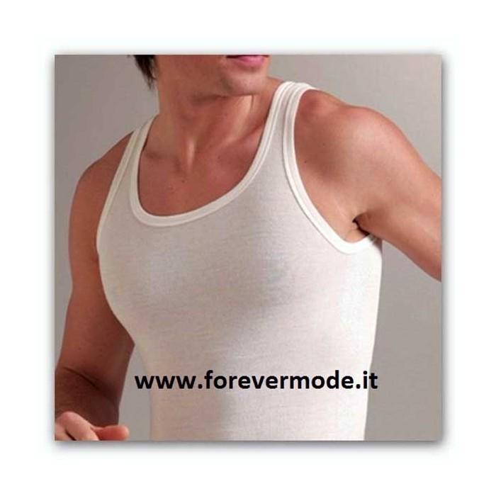 Canottiera uomo Liabel a spalla larga con esterno lana e interno cotone