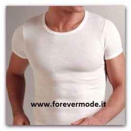 T-Shirt uomo Liabel manica corta a girocollo con esterno lana ed interno cotone