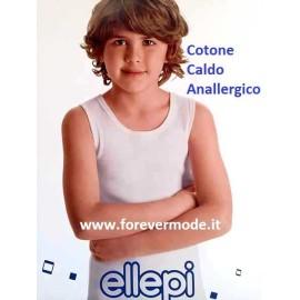 3 Canottiere bambino Ellepi a spalla larga in caldo cotone invernale