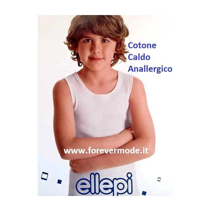 Ellepi Canottiera Bambino Confezione 3 Pezzi Ragazzo Intimo Caldo Cotone Spalla Larga Bimbo 2 3 4 5 6 8 10 12 14 Anni Abbigliamento Invernale Regalo