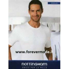3 T-shirt maglie uomo Nottingham in cotone felpato a girocollo