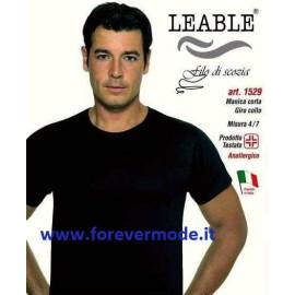 3 T-shirt uomo Leable manica corta girocollo basso in filoscozia