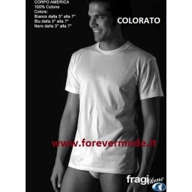 3 T-shirt uomo Fragi manica corta a girocollo alto in cotone colorate