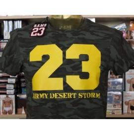 T-shirt uomo Rams 23 manica corta a girocollo con stampa mimetica fluo