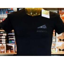 T-shirt uomo Angel Devil manica corta a girocollo con logo borchiato e finto taschino