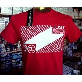 T-shirt uomo Papeete manica corta a girocollo in cotone con stampa logo