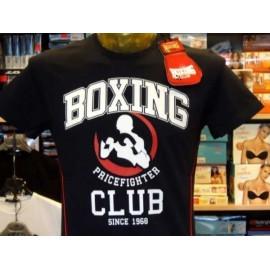 T-shirt maglia uomo Boxing manica corta a girocollo in cotone con stampa logo