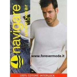3 T-shirt uomo Navigare girocollo in cotone felpato con logo