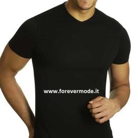 3 T-Shirt uomo Axiom manica corta con scollo a V in cotone elasticizzato aderente