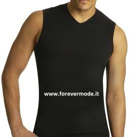 3 T-Shirt uomo Axiom smanicato in cotone elasticizzato con scollo a V piccolo