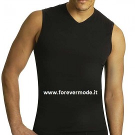 T-Shirt uomo Axiom smanicato in cotone con scollo a V piccolo