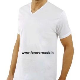 T-Shirt uomo Axiom manica corta con scollo a V largo in fresco filo di scozia
