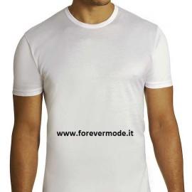 3 T-Shirt uomo Axiom manica corta a girocollo in filo di scozia con collo basso