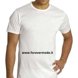 T-Shirt uomo Axiom in filo di scozia con collo basso e logo