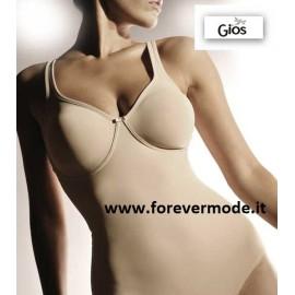 Body donna Gios senza ferretto non imbottito, contenimento forte