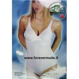 Body donna Rita cotone con coppe non imbottite controllo leggero