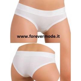 3 Slip donna Jadea cotone-modal vita bassa con elastici tubolari