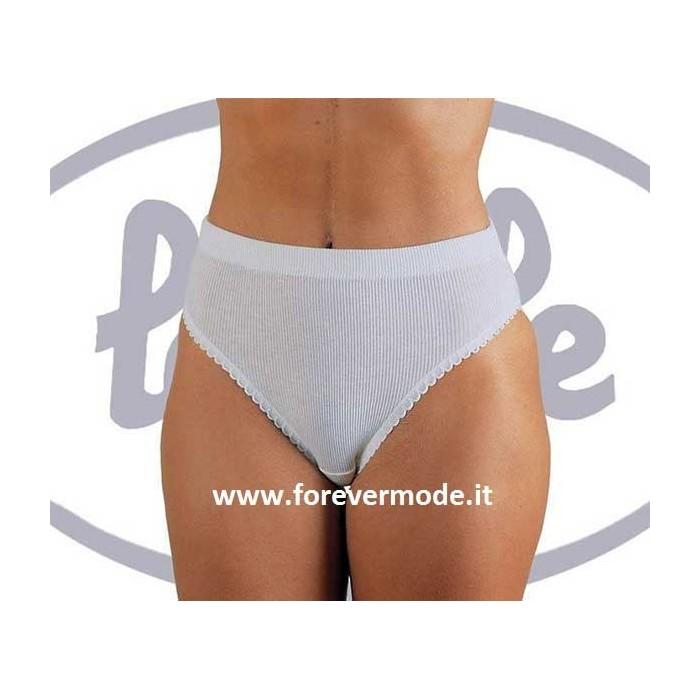 3 Slip donna Lajole in puro cotone a costina pratici e convenienti