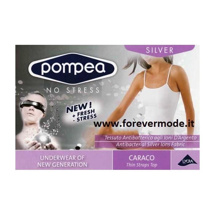 Canottiera donna Pompea a spalla stretta in morbida microfibra elasticizzata