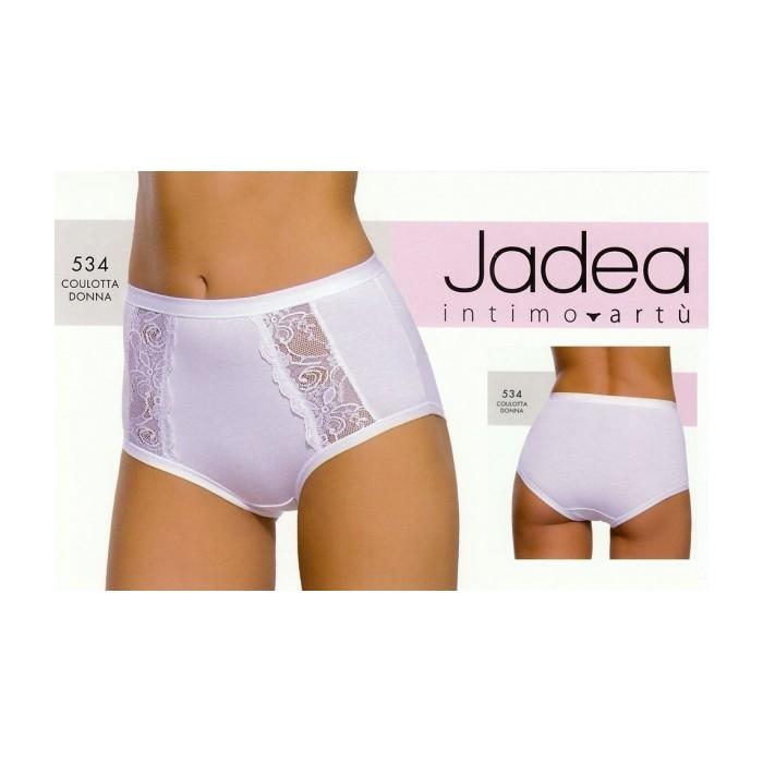 3 Slip culotte donna Jadea alte in cotone modal e pizzo con elastici tubolari