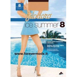 3 Collant donna Filodoro Ice Summer 8 denari estivo invisibile